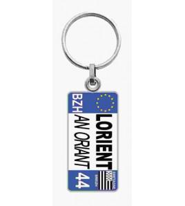 Porte-clés Plaque Immatriculation Lorient/An Orient