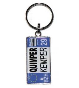Porte-clés Plaque Immatriculation Quimper/Kemper