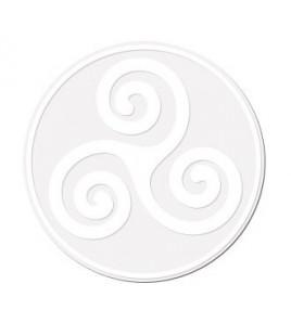 Triskell Blanc sur Transparent