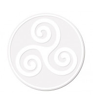 Triskell Blanc sur Transparent XXL