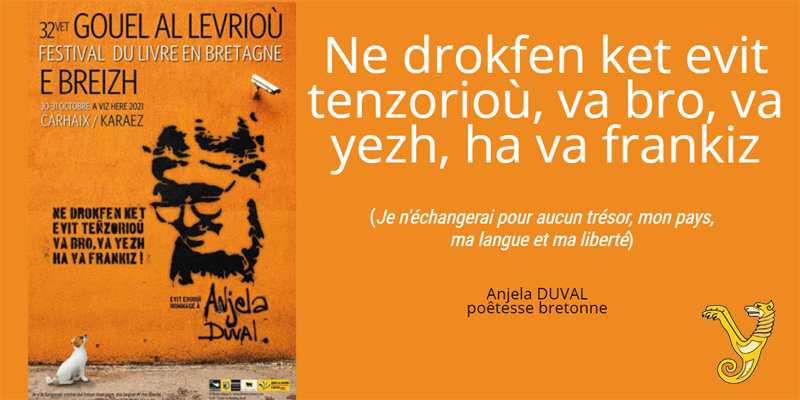 Anjela Duval, de Roger Laouenan chez Yoran Embanner
